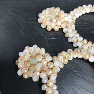 CLOSET REHAB Jewelry - 🆑 Boho Beaded Drop Hoops in Off-White